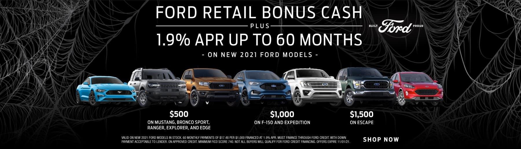 Ford Retail Bonus Cash