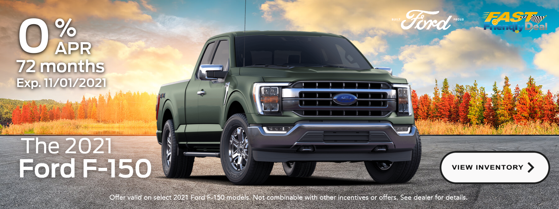 0% for 72 months APR- Ford F-150 special