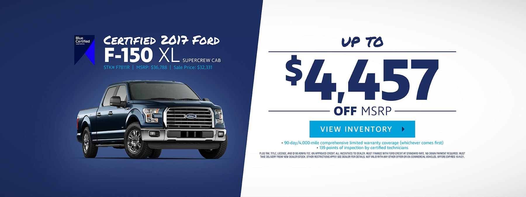 Certified 2017 Ford F-150