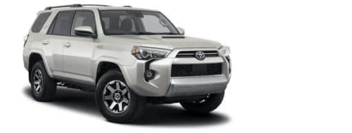 A silver 2021 Toyota 4Runner TRD Off-Road is angled right.