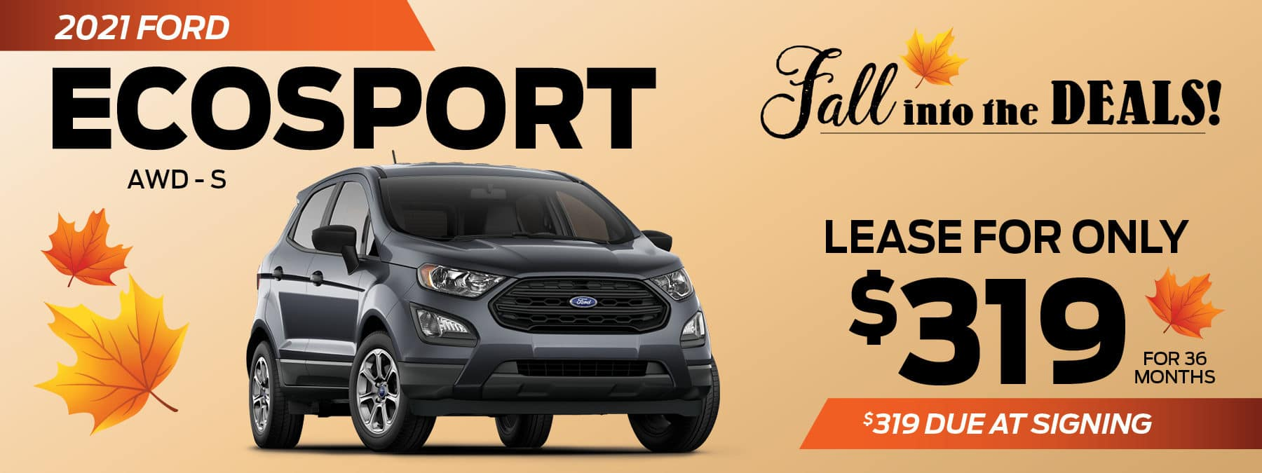 2021 Ford Ecosport Lease Offer at Smail Ford in Greensburg PA