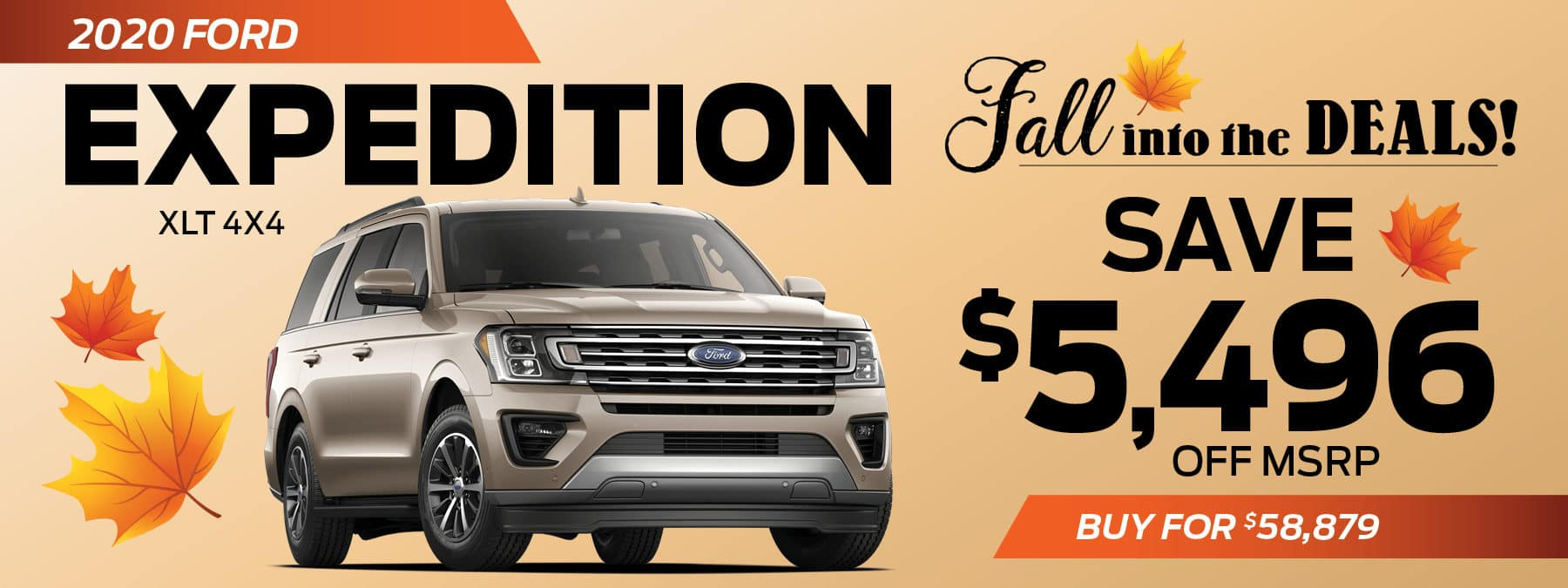 2020 Ford Expedition Save $5496 Off MSRP