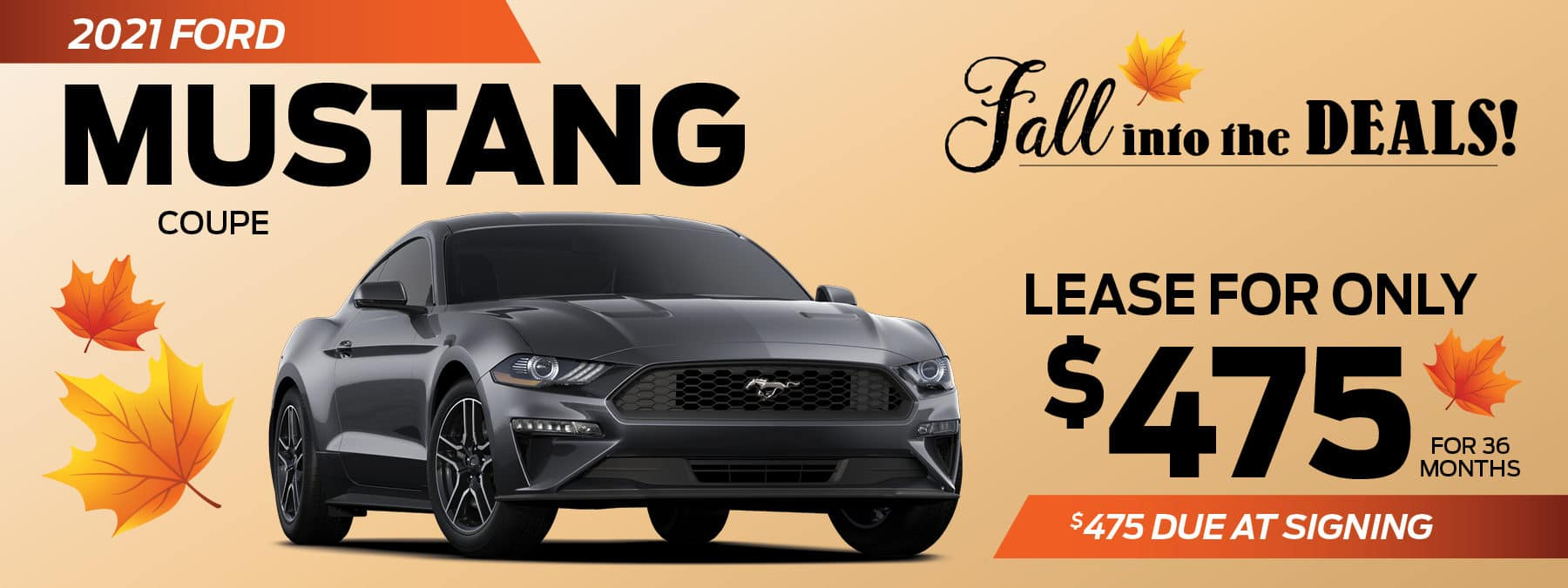 2021 Ford Mustang Coupe lease for $475 per month in Greensburg PA