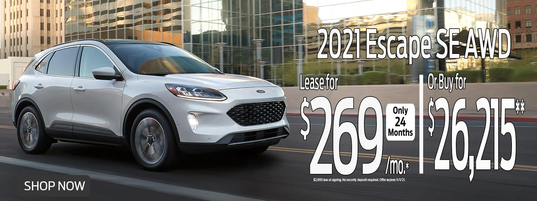 2021 Escape Special Lease Offer