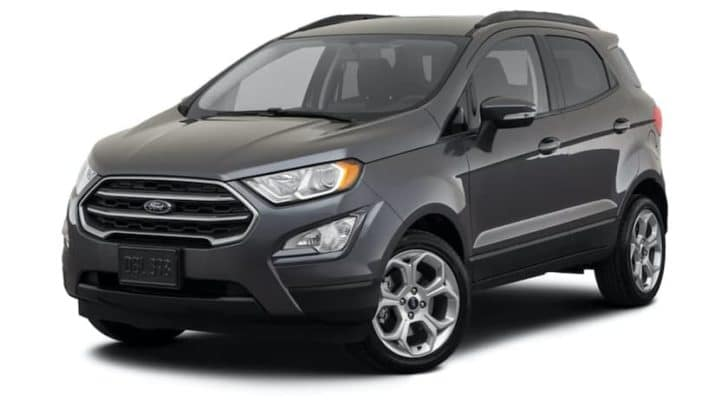 A grey 2021 Ford EcoSport SE is angled left.